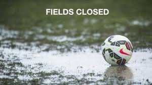 Fields Status- Closed due to rain