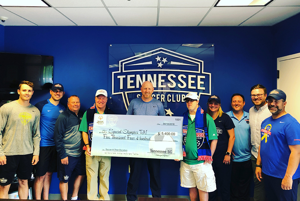 TSC Presents Check to Special Olympics TN